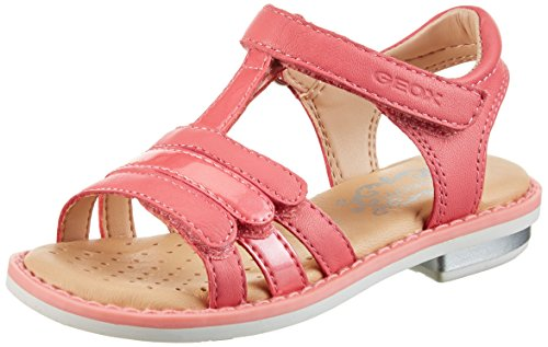 Geox Mädchen JR Sandal Giglio A Offene Keilabsatz, Rot (CORALC7008), 36 EU