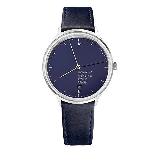 Mondaine Helvetica Bleu Marine Light Unisex Wristwatch 26mm Quartz MH1L2240LD