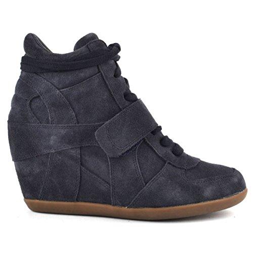 Ash Footwear Bowie Bis Midnight Suede Wedge Trainer 39EU/6UK Midnight