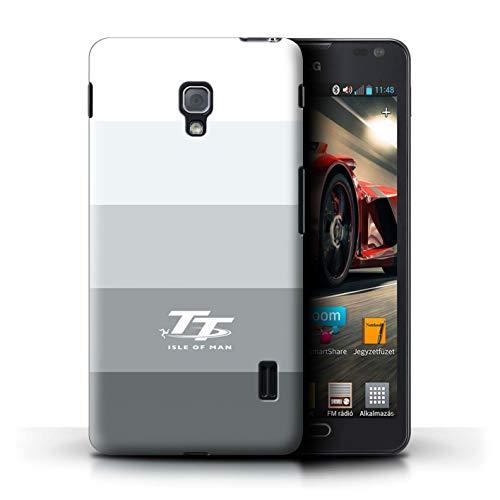 Isle of Man TT Offiziell Hülle/Case für LG Optimus F6 / Knackig Muster/Eleganz Kollektion (Lg Handy Case F6)