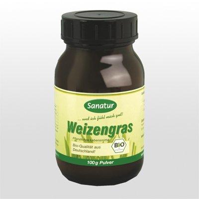 Sanatur Weizengras Pulver, BIO 100 g - Dr. Weizengras