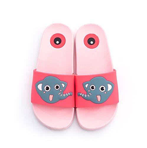 Sandalias Slops Flip Flops Zapatillas Para Niños_Summer Bebé Lindo Zapatillas De Elefante Sandalias Y Zapatillas De Dibujos Animados Para Interiores Para Niños Y Niñas Color, Rosa, 34 (Adecuado Para 3