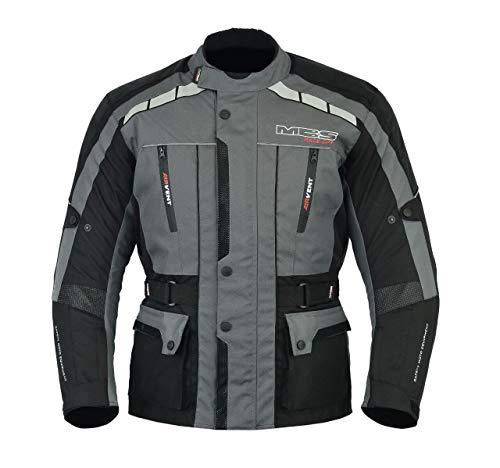 2a9a62b7034 MBS MJ21 James Motocicleta Motocicleta larga chaqueta de viaje textil  (antracita