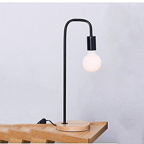 LEGELY Bügeleisen Tischlampe, Arbeitszimmer Schlafzimmer Dekoration Lichter, schwarz, E27, Nordic Style