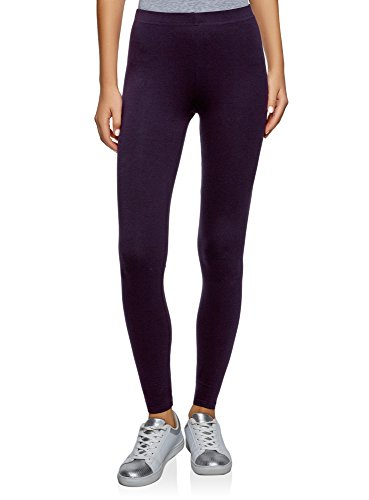 oodji Ultra Damen Leggings Basic, Violett, DE 40 / EU 42 / L Basic Leggings