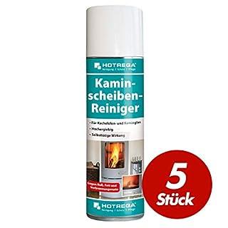 5 St. HOTREGA Kaminscheiben Reiniger mühelos Ruß vom Kaminglas entfernen Kachelofen Scheibe reinigen 300ml