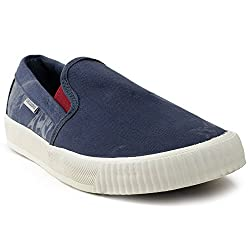 Lee Cooper Mens Navy Loafers - 6 UK/India (40 EU)(LC6535)