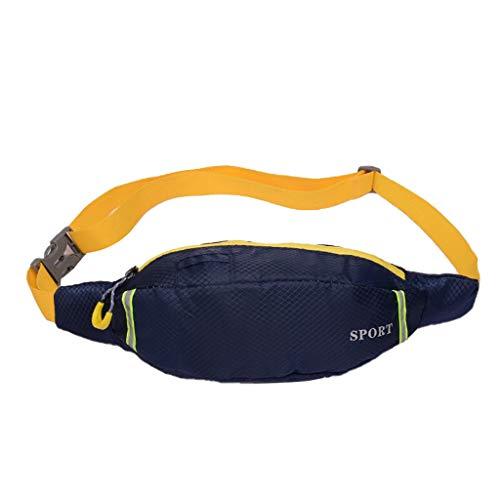 Produp Unisex Outdoor Studenten Sport Leuchtstreifen Umhängetasche Brusttasche Handytasche - Mittleres Leder Bowling Tasche