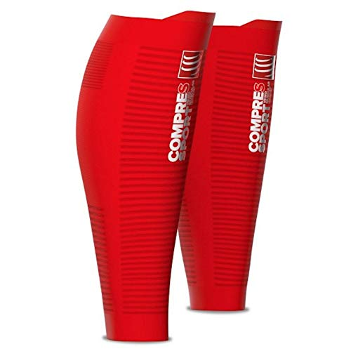 Photo Gallery webinero compressport r2 v2 oxygen calf sleeves polpacci compressione running triathlon, rosso, t1 (30-34cm)