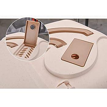 Wcx Bac À Litière pour Chat Flip Sombre Boîte Casserole À Capuchon Toilettes Charbon De Bois Filtrer Profonde (Couleur : Naturel, Taille : 44x58x42cm)