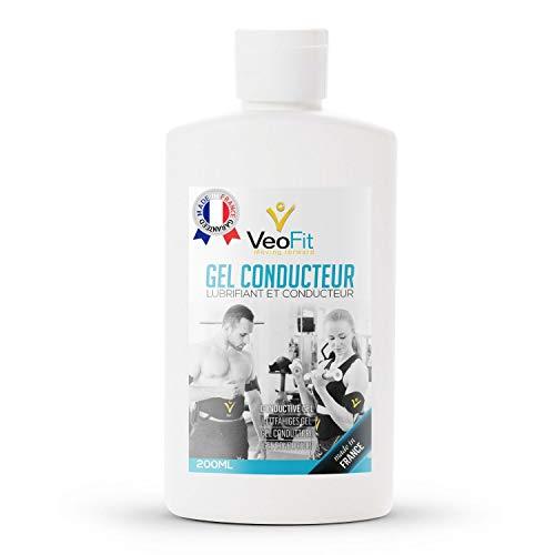 VEOFIT Kontakt Gel Conductive Leitfähiges Elektroden für EMS TENS Geräte, Elektrostimulatoren, Elektroden Pads - Verbessert den Elektrodenkontakt und schützt die Haut - Made in France