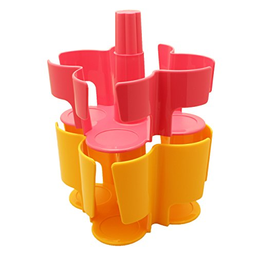 T-disc Carousel (Tassimo Koziol Carousel / Karussel T-Disc Halter, 2-tlg., für 40 T-Discs, Kaffee Kapselhalter, Kunststoff, Pink / Gelb)