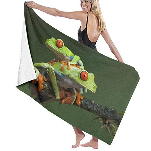sd4r5y3hg Bath Towel Microfiber, Two Red Eyed Tree Frogs Bath Towels Blanket Travel Pool Unisex 31\