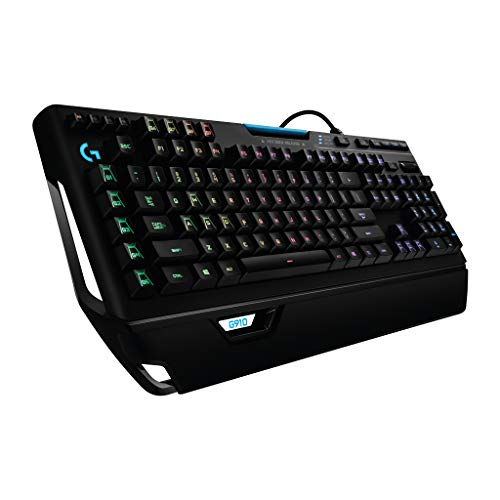 Logitech G910 Orion Spectrum Mechanische Gaming-Tastatur (RGB-Beleuchtung, Taktile Romer-G Switches, 9 Programmierbare G-Tasten, Anti-Ghosting, ARX-Zweitbildschirm Feature, Int. US QWERTY-Layout)