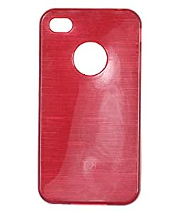 iCandy™ Soft TPU Shiny Back Cover For Apple iPhone 4 / 4S - Red