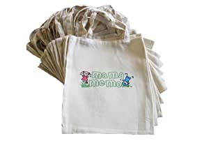 2 Childrens Market Shopping Bags for Play Food Role Play: Ideal Market Stall / Shop Accessory