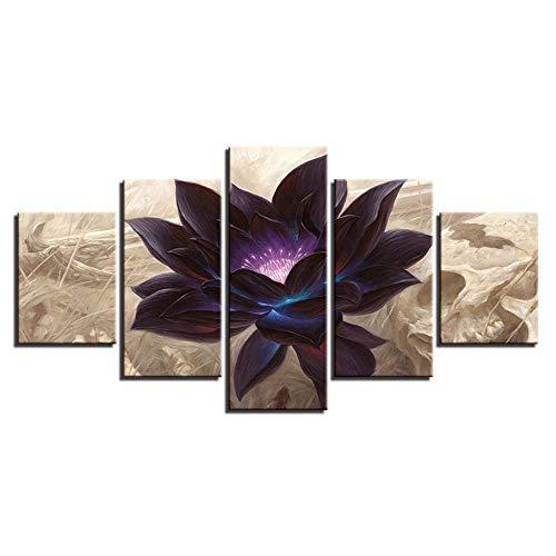 Dekorative Malerei,Einfache Five-in-One-Handwerk Malerei Inkjet kreative abstrakte Blumen Startseite Kinderzimmer Schlafzimmer Wandbild Kunst Gemälde Gemälde 11 Kern 30x40cmx2 30x60cmx2 30x80cmx1