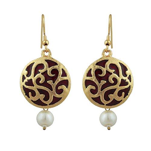 Kshitij Jewels Indo Western dangler Earrings KJM104  available at amazon for Rs.135