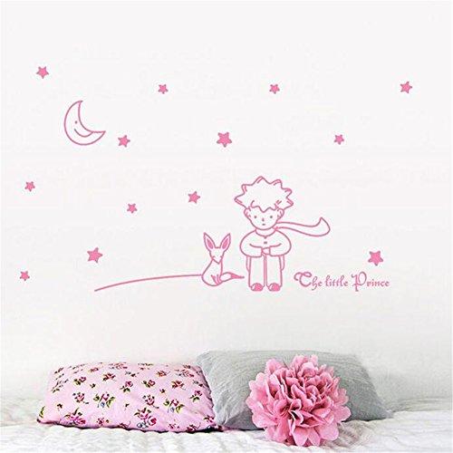 le-petit-prince-etoiles-lune-boy-autocollant-mural-home-decor-stickers-murauxrose-vif