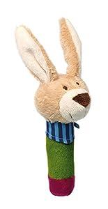 Sigikid 42211Squeaker PlayQ de Conejo de Peluche, 14x 6x 7cm
