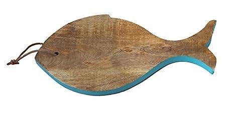 Mangoholz Brett Schneidebrett Fisch (Mango Brot)