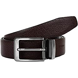 amicraft Casual & Formal 100% Pure Genuine Leather Men's Belt (Reversible)