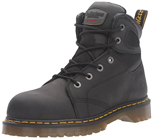 Dr Martens Mens Fairleigh ST6 eye Lace up Slip Resistant Safety Boots Black