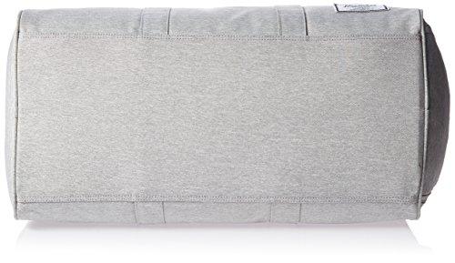 Herschel  10026, Borsone  Adulti, Navy/ Tan PU (Blu) - 10026-00007-OS Light Grey Crosshatch/Lucite Green Zip