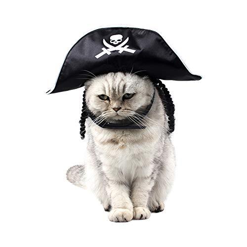 ZOOENIE Pet Hut Für Hunde Katze Lustige Piraten Partei Cosplay Halloween Kostüm Zubehör Im Freien Pet Headwear Kappe Chihuahua Pet Zubehör (Katze Hut Im Halloween-kostüme)