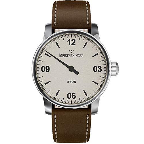 Meistersinger Urban Reloj de Hombre automático 40mm Correa de Cuero UR913