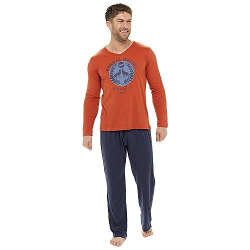 Krishwear Herren Schlafanzug Orange