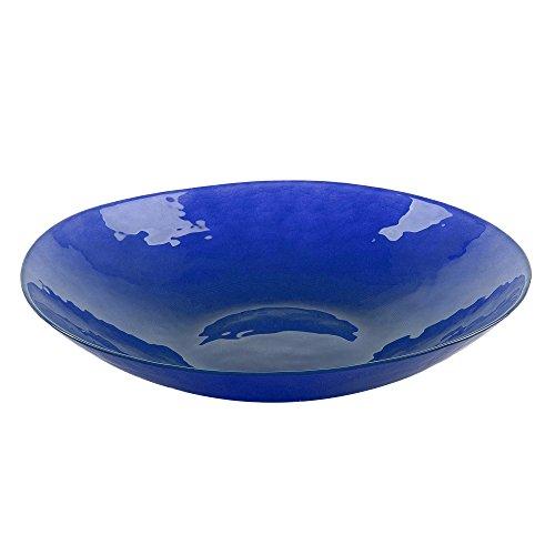 Bohemia Cristal 093 012 042 Play of Colors ca. Ø 380 mm blau aus Kalk-Natron-Glas Schale, 8.2 x 38 x 8.2 cm Blau Glas