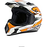 S-Line – Cross S813 blanco Orange S casco Cross color blanco naranja