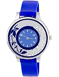 Spinoza KNK-143L76 Beautiful Flower Desing On Glass Atractive And Fancy Watch For Girls