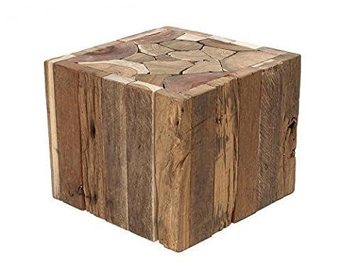 Designer Beistelltisch aus Treibholz - Massiv, natürlich, rustikal und ohne Chemie behandelt - Sehr robuster Tisch und auch als Hocker verwendbar Holz Massivholz
