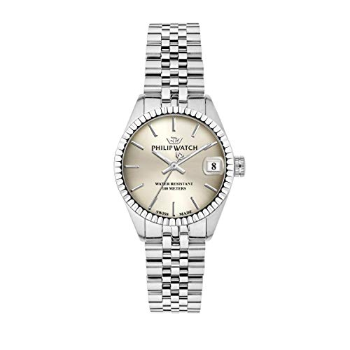 Philip Watch Women's Watch, Caribe Collection, Three Hands with Date , Made of Stainless Steel - R8253597548