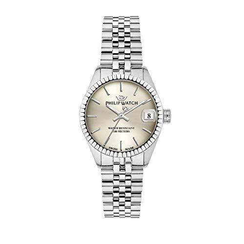 Philip Watch Orologio da donna, Collezione Caribe, funzione tempo e data, in acciaio - R8253597548
