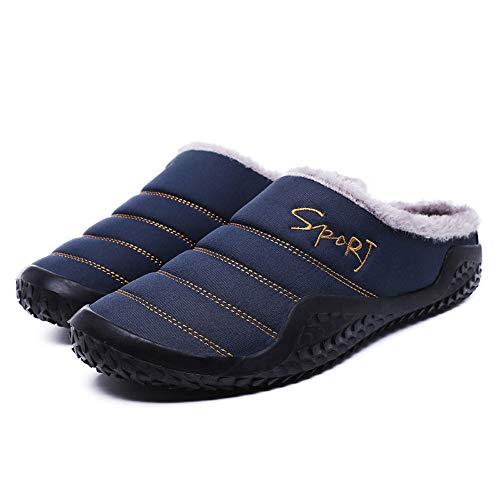 Rcool inverno pantofole uomo home morbido antiscivolo cotone scarpe in casa caldo peluche camera da letto casa pattini impermeabile 2 colore 39-48,