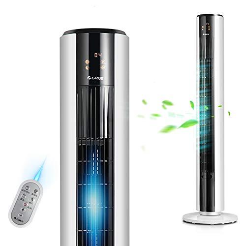 CanKun Oszillierender Turmventilator mit Fernbedienung, Aromatherapie-Funktion, 12 Stunden intelligentes Timing, 4-Gang und 5 einzigartige Windmodi, Ultra-leise Kühllösung