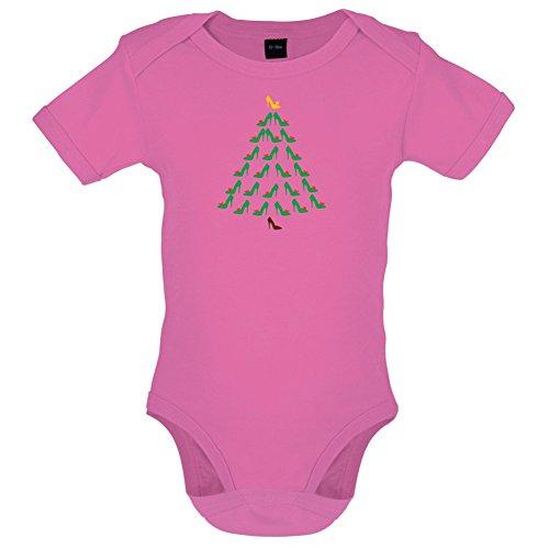 Dressdown Schuh-Weihnachtsbaum - Lustiger Baby-Body - Bubble-Gum-Pink - 6 bis 12 Monate -