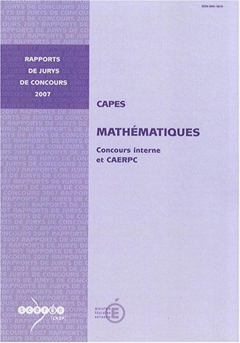 CAPES mathématiques : Concours interne et CAERPC