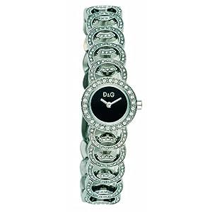 D&G Dolce&Gabbana D&G Night Sessions – Reloj analógico de mujer de cuarzo con correa de acero inoxidable multicolor