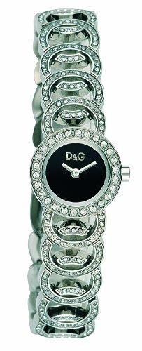 D&G Dolce&Gabbana D&G Night Sessions - Reloj analógico de mujer de cuarzo con correa de acero inoxidable multicolor