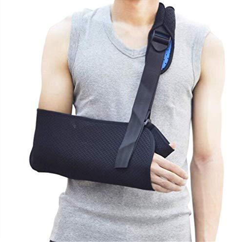 HJJH Arm Sling Schulter Immobilizer Brace - für gebrochene, gebrochene Knochen - verstellbare Schulter, Rotatorenmanschette voll weiche Wegfahrsperre für Subluxation, Luxation, Verstauchung,Adults(L) -