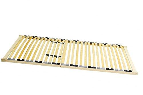 Stabiler 7-Zonen Lattenrost starr 90 x 200 100x200 120x200 140x200 cm 28 Leisten -nicht verstellbar- Duo-Kappen