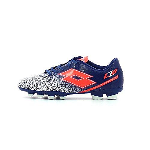 Lotto Lzg Viii 700 Fgt Jr, Chaussures de Football Mixte Bébé Bleu / Rouge (Blu Twi / Red Fl)