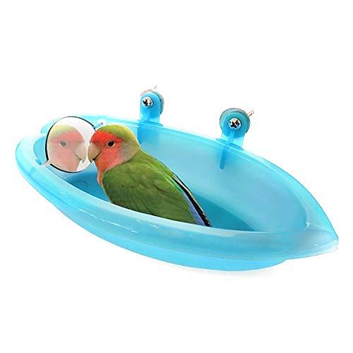 Gutyan Vogel Badewanne Vogelkäfig Zubehör Vogelspiegel Badewanne Dusche 1 STÜCK Kunststoff Badewanne für Vögel Papageien -