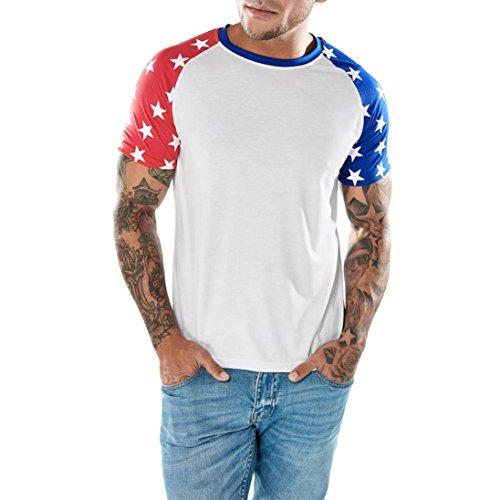 TUDUZ Oversize Herren Männer Sommer Kurzarm Shirt Slim-Fit Rundhals Basic T-Shirt Pullover Sweatshirt S-XXL (Lustige Selbstgemachte Halloween Kostüme)