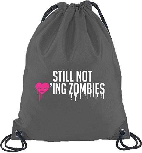 Shirtstreet24, Halloween - Ancora Non Amante Zombie, Zaino Sportivo Zaino Grigio Scuro