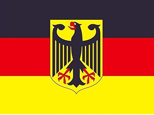 Piersando Fahne 150cm x 90 cm Länderflagge Fanartikel Land Flagge mit Metallösen Deutschland mit Adler